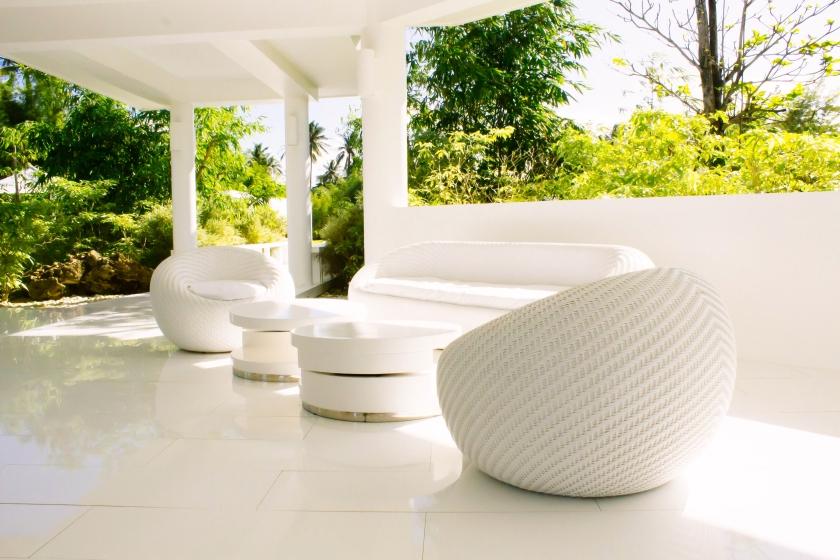 Love the all-white furniture