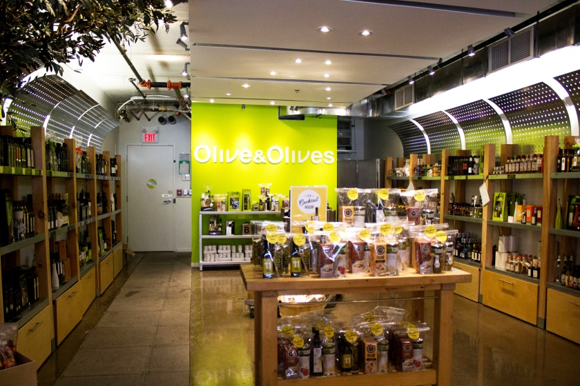 Across from St. Lawrence Market is a charming store dedicated to olive oil.
