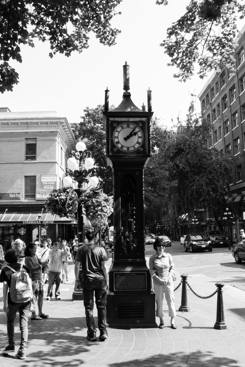 The old steam clock that all the tourists flock to, including me. It lets of steam when it chimes.