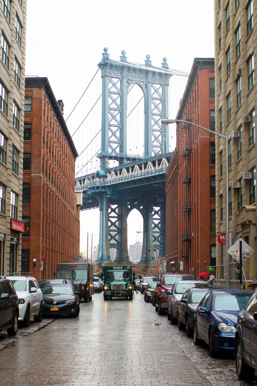 View of Manhattan Bridge from the Dumbo neighborhood