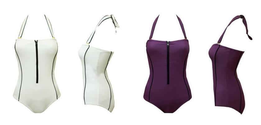 zip up swimsuit